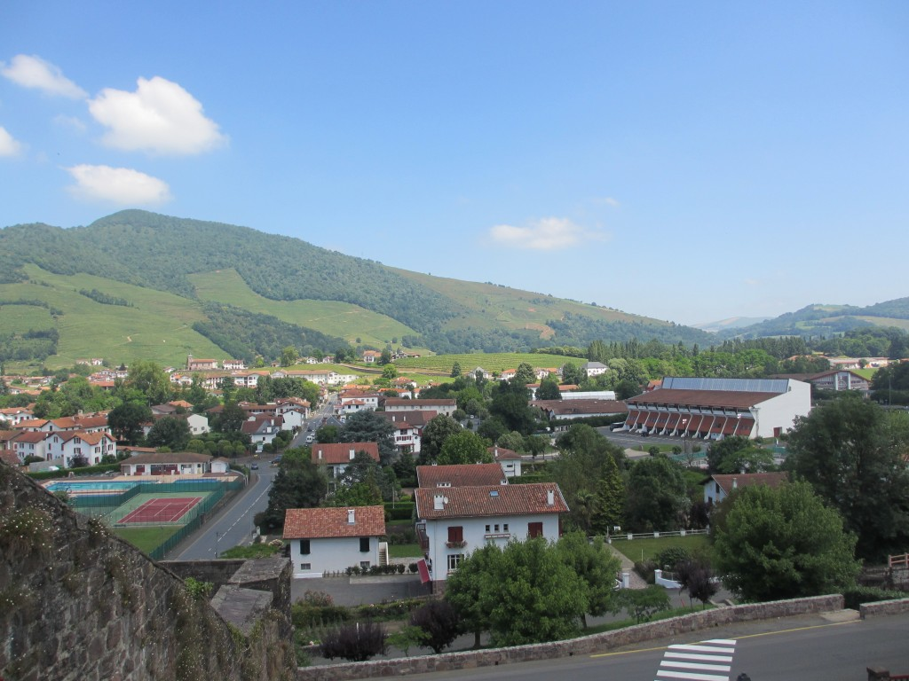 St. Jean Pied de Port - Pyrenees view from my room