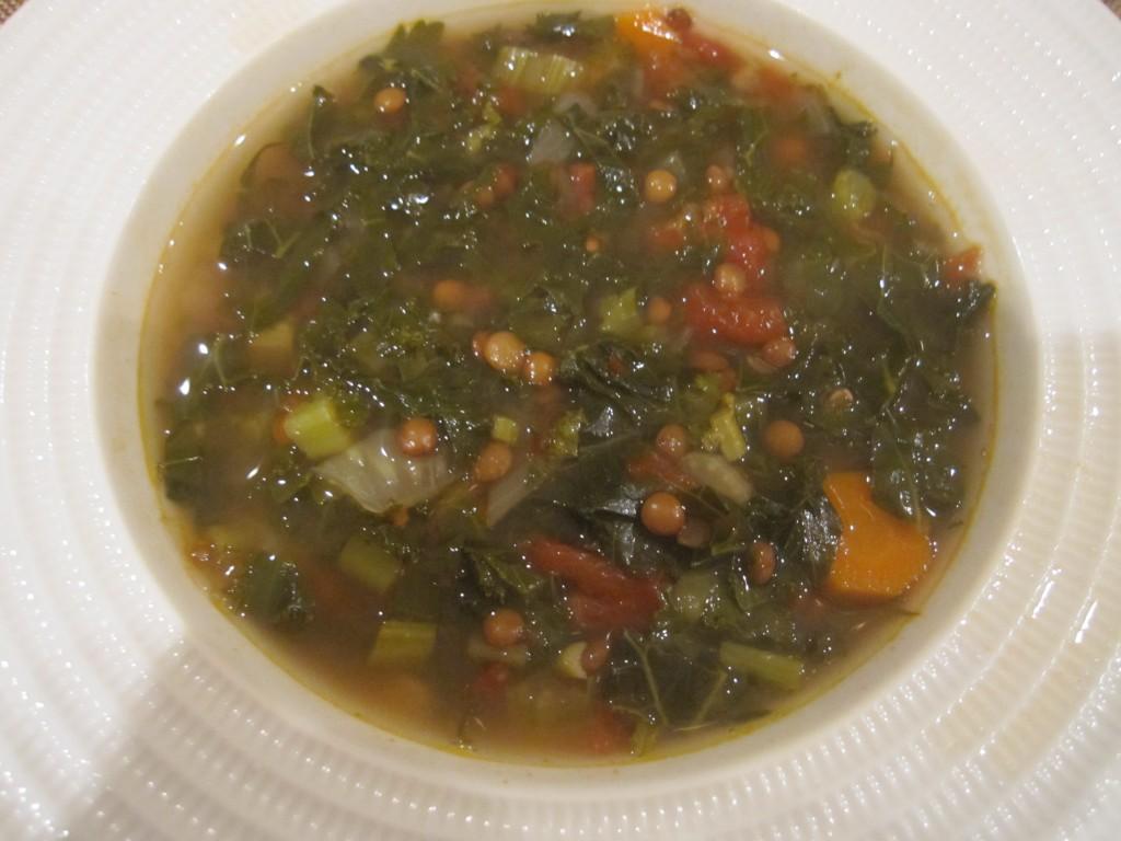 Tuscan Kale Lentil Soup