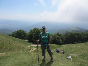 Top of the summit  at 1450m